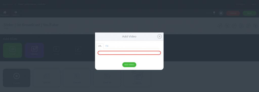 Add URL video